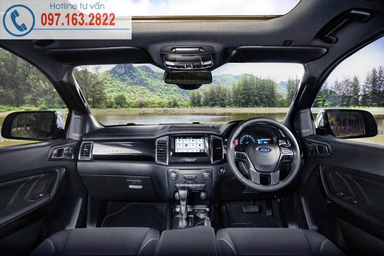 Nội thất ford everest mới